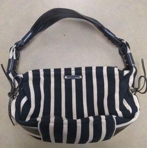 Kate Spade black and cream hobo shoulder bag